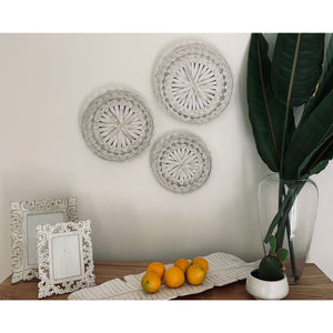 Set x 3 Whitewash wall trays - Unique Imports brought to you by Pablo & Kerrie Wijaya