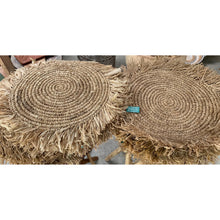 Load image into Gallery viewer, Raffia seagrass mats.