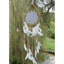 Load image into Gallery viewer, Teardrop white beaded dream catcher. - Unique Imports brought to you by Pablo & Kerrie Wijaya