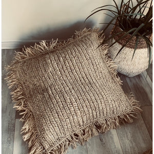 Large Square seagrass  floor cushion cover