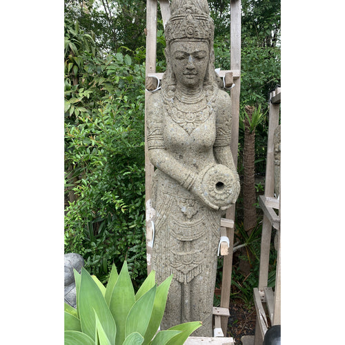 Large Volcanic rock Wisnu 'God of water' Budha statue.