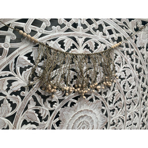 Boho seagrass beaded wall hanging - Unique Imports brought to you by Pablo & Kerrie Wijaya