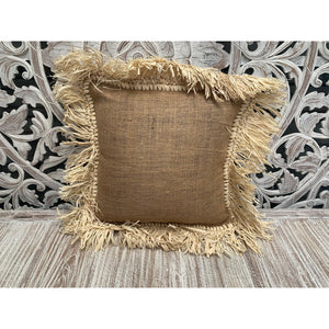 Hession & seagrass cushion cover - Unique Imports brought to you by Pablo & Kerrie Wijaya