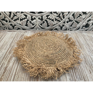 Round seagrass cushion cover - Unique Imports brought to you by Pablo & Kerrie Wijaya