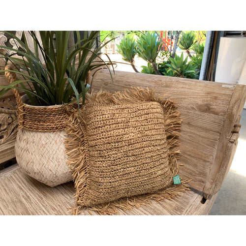 Square seagrass cushion cover