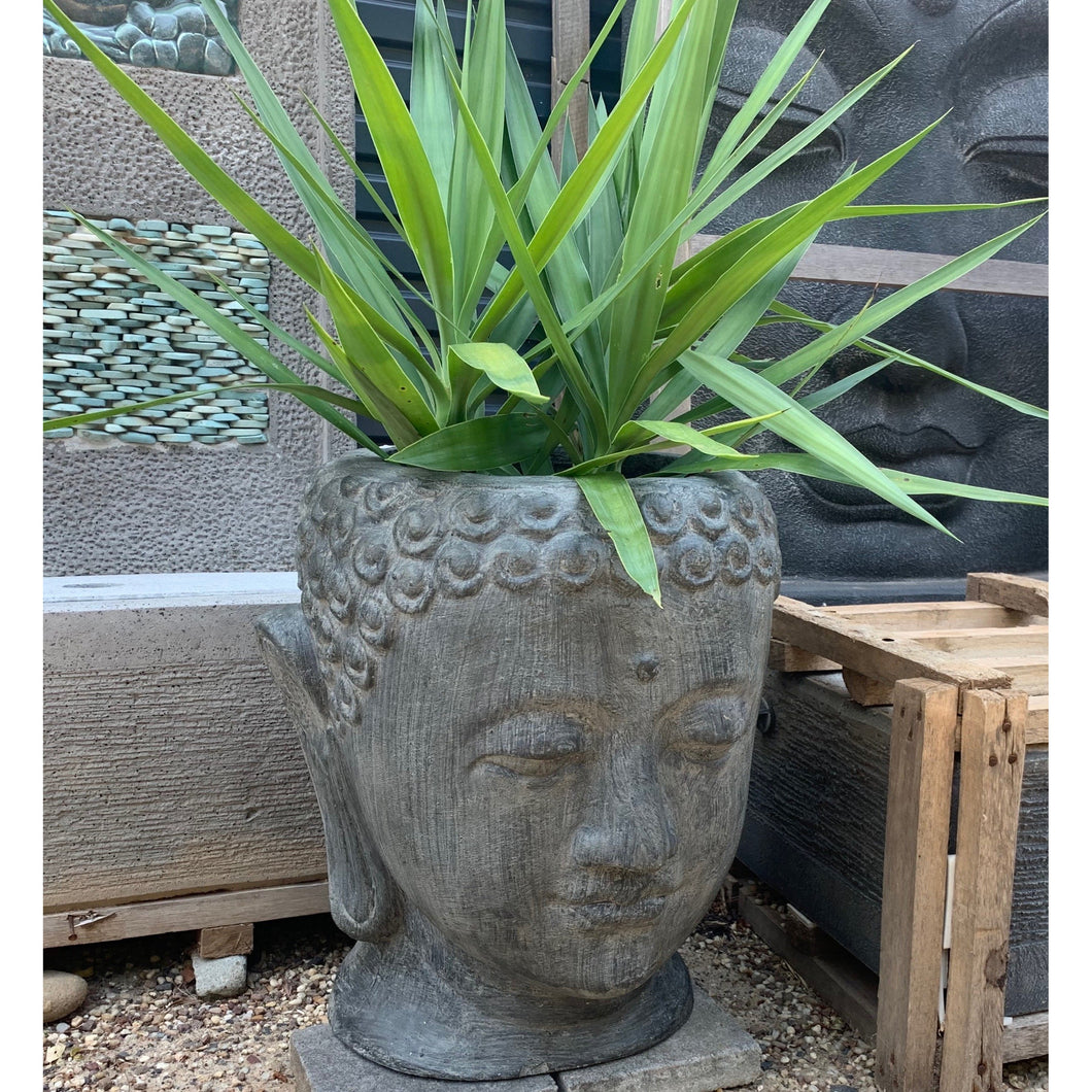 Budha head pots - Unique Imports brought to you by Pablo & Kerrie Wijaya