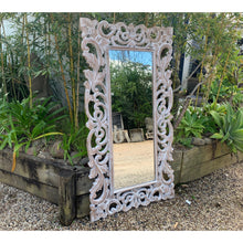 Load image into Gallery viewer, Lila Carved Mirror Natural wash. - Unique Imports brought to you by Pablo & Kerrie Wijaya