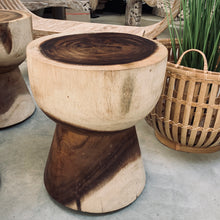 Load image into Gallery viewer, Timber log stool / side table.