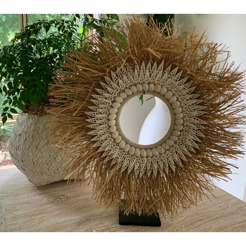 Maluku raffia halo wall feature