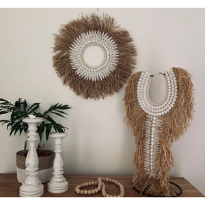 Maluku raffia halo wall feature - Unique Imports brought to you by Pablo & Kerrie Wijaya