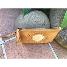 Load image into Gallery viewer, Mandala leather clutch purse with strap - Unique Imports brought to you by Pablo & Kerrie Wijaya