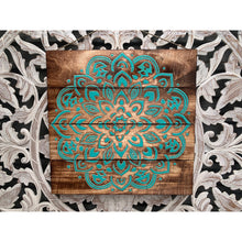 Load image into Gallery viewer, Mandala Paling wall feature aqua or white - Unique Imports brought to you by Pablo & Kerrie Wijaya