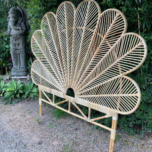 Natural rattan petal bedheads - Unique Imports brought to you by Pablo & Kerrie Wijaya
