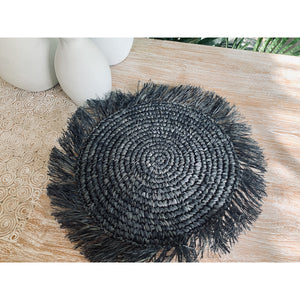 Natural or licorice Raffia seagrass mats.