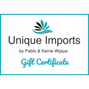 Unique Imports Gift Card - Unique Imports brought to you by Pablo & Kerrie Wijaya