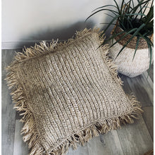 Load image into Gallery viewer, Large Square seagrass  floor cushion cover