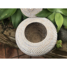Load image into Gallery viewer, Rattan whitewash Gucci pot - Unique Imports brought to you by Pablo & Kerrie Wijaya