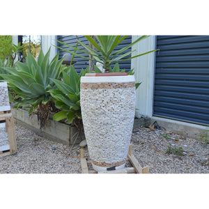 Natural Onyx Tall pots - Unique Imports brought to you by Pablo & Kerrie Wijaya