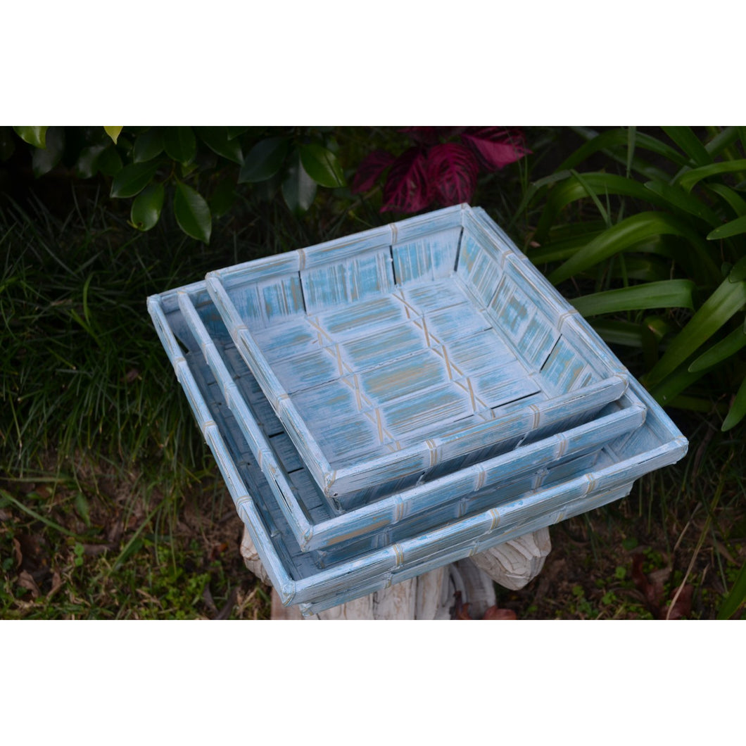 Bluewash Trays - Unique Imports brought to you by Pablo & Kerrie Wijaya