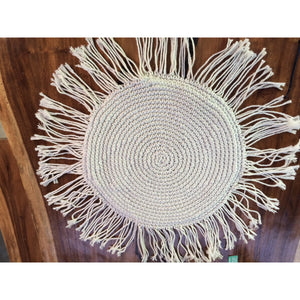 Round Macrame pillows. - Unique Imports brought to you by Pablo & Kerrie Wijaya