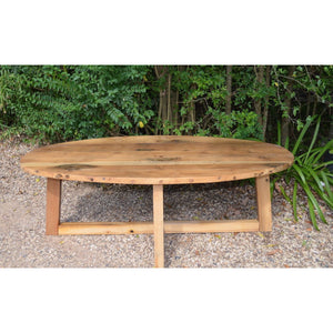 Recycled Oval Coffee table.