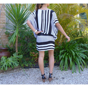 Striped Kaftan Dress - Unique Imports brought to you by Pablo & Kerrie Wijaya