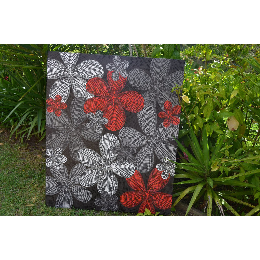 Motif Flower Red - Unique Imports brought to you by Pablo & Kerrie Wijaya
