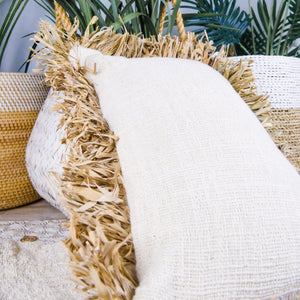 Cotton & seagrass cushion cover