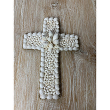 Load image into Gallery viewer, Hand crafted Coastal shell crosses.