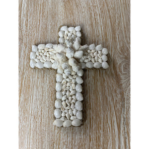 Hand crafted Coastal shell crosses.