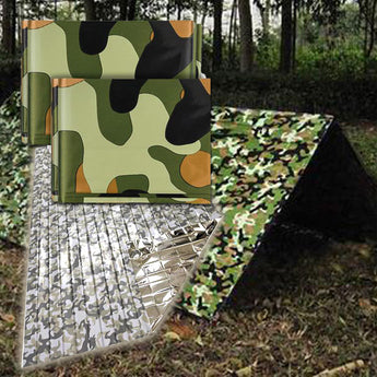 Three Pack Full Camouflage Mylar Survival Blanket