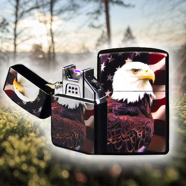 Chief Eagle Patriot USB Plasma Arc Lighter