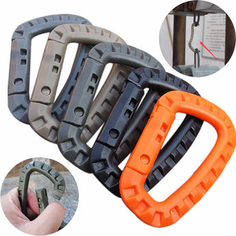 5-Piece Tactical Carabiner Plastic Hook