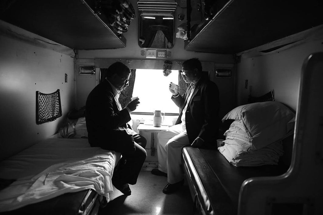 TT examiners examining Tea. - Indian Railway Diaries
