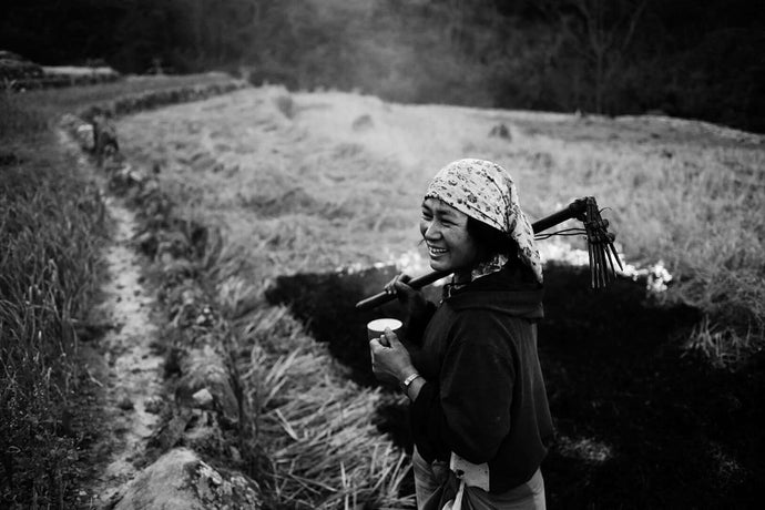 A hard day's work, a well deserved cup of tea and a smile of contentment  - An Angami farmer, Nagaland