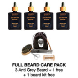 Complete anti gray beard cure pack + free / free beard care kit. Natural repigmentation of the beard. Complete anti-gray beard treatment pack + free beard care kit. Natural beard repigmentation