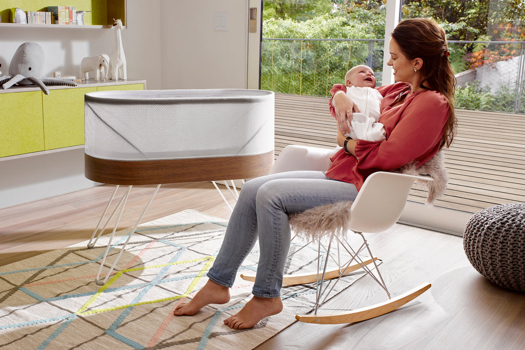 Happiest Baby SNOO Smart Sleeper bassinet to help baby sleep better, image courtesy of Happiest Baby