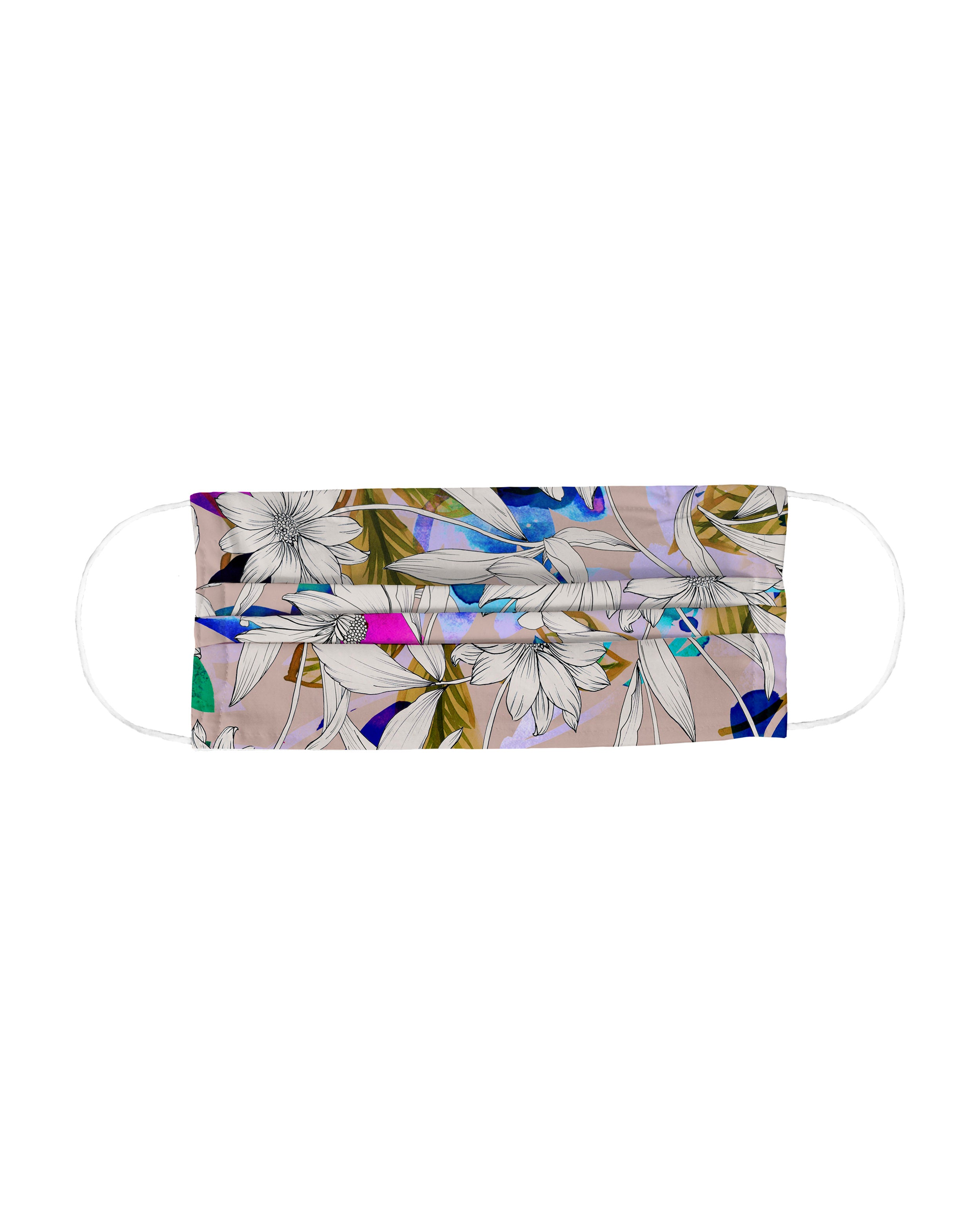 nicole miller drifting flowers face mask   cotton