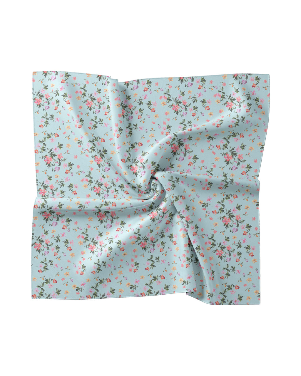 AC10004 - AQUA FLORAL SILK BLEND SCARF - accessories - scarves - Made from leftover fabric from our Summer 2020 collection, these scarves are the perfect addition to your warm weather wardrobe. Choose from 7 different colorways. Style as a head scarf, tie it on your beach bag, or just throw around your neck.The possibilities are endless.
