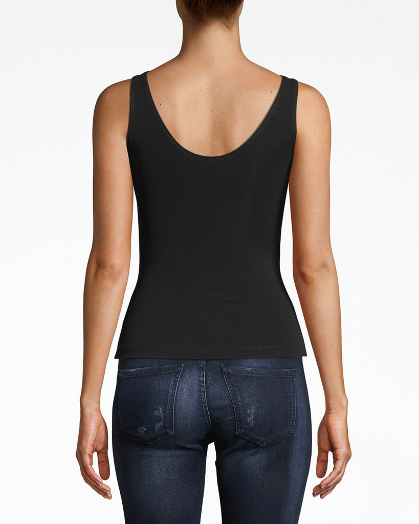 AP10047 - STRETCHY MATTE JERSEY DRAPEY TANK - tops - shirts - Chic is easy. The bodice ruching of this jersey tank top brings eyes to the waistline. The simple silhouette lets you have some fun with layering and styling. Alternate View