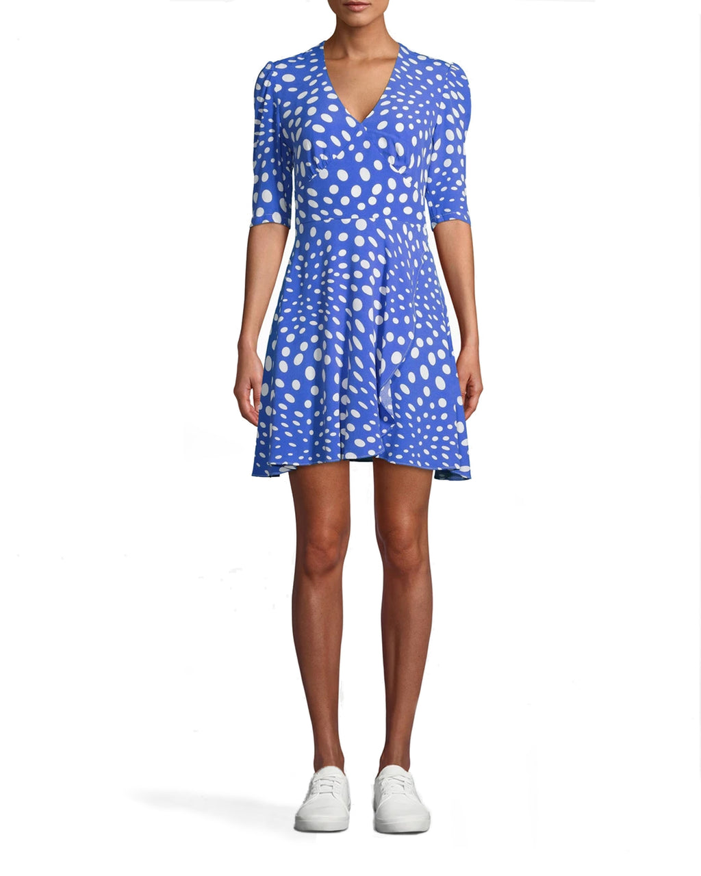 AP10049 - PEBBLE CREPE V-NECK MINI FAUX WRAP DRESS - dresses - short - SIMPLE DOESN�T HAVE TO MEAN BORING. THIS V-NECK FAUX WRAP DRESS CAN BE EASILY DRESSED UP OR DOWN. PAIR WITH YOUR FAVORITE SHOES. BACK ZIPPER FOR CLOSURE.