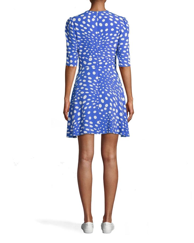 AP10049 - PEBBLE CREPE V-NECK MINI FAUX WRAP DRESS - dresses - short - SIMPLE DOESN�T HAVE TO MEAN BORING. THIS V-NECK FAUX WRAP DRESS CAN BE EASILY DRESSED UP OR DOWN. PAIR WITH YOUR FAVORITE SHOES. BACK ZIPPER FOR CLOSURE. Alternate View