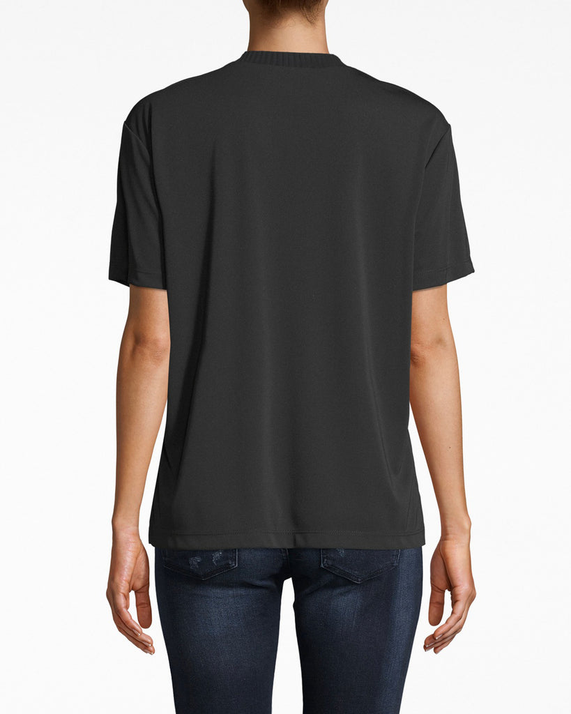 AQ10061 - STRETCHY MATTE JERSEY T-SHIRT - tops - shirts - this grab-and-go jersey t-shirt features simple short sleeves, a ribbed neckline, and comfortable fit. Alternate View