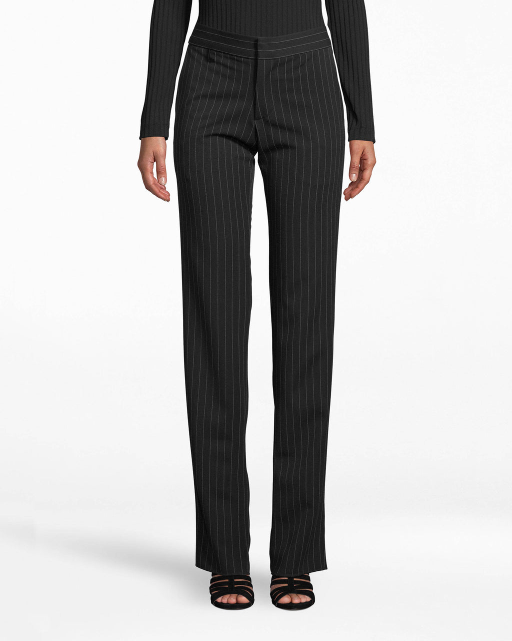 BC10301 - GANGSTER STRIPE PANT - bottoms - pants - Workwear streamlined. These straight-cut dress pants showcase our running Gangster Stripe and fit comfortably (yet fitted) on your body. The leg hem falls below the ankle.