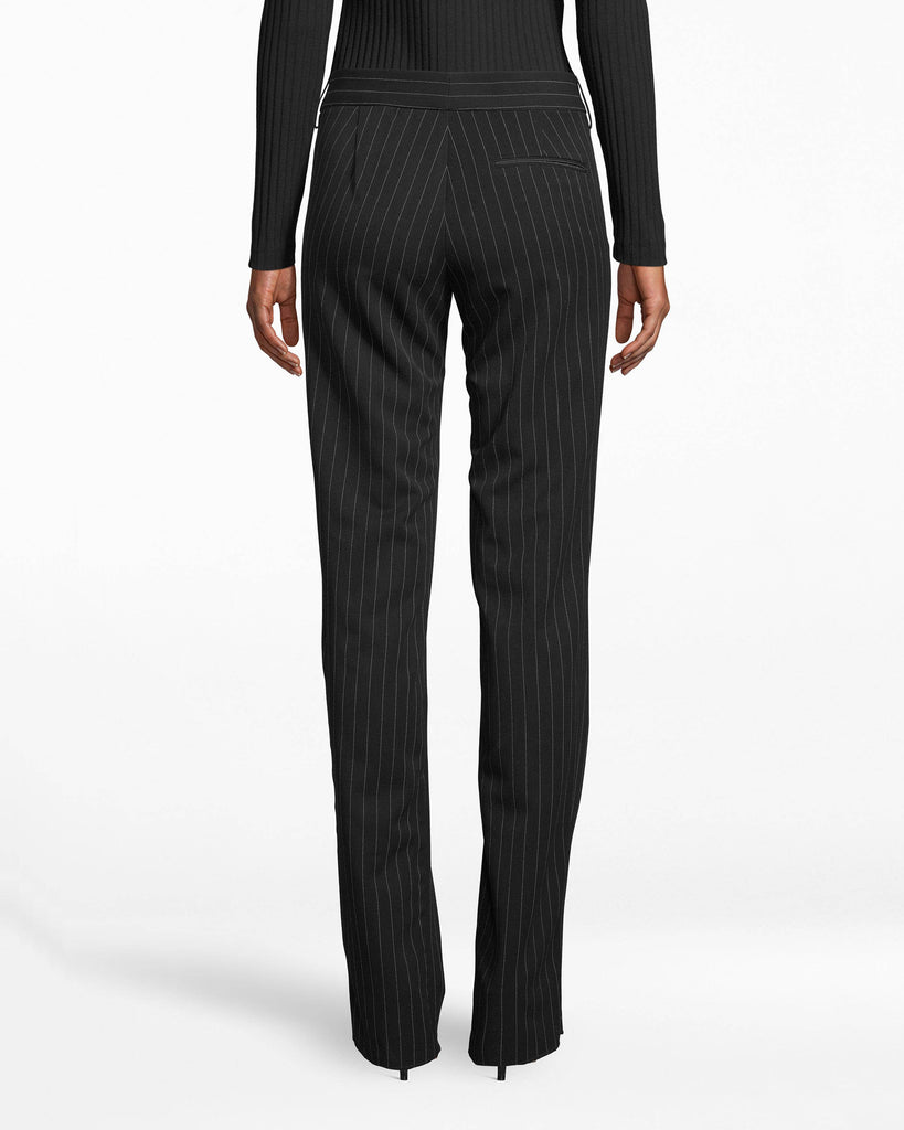 BC10301 - GANGSTER STRIPE PANT - bottoms - pants - Workwear streamlined. These straight-cut dress pants showcase our running Gangster Stripe and fit comfortably (yet fitted) on your body. The leg hem falls below the ankle. Alternate View