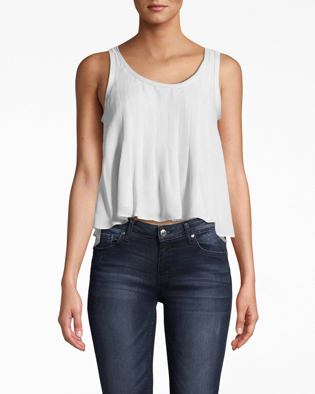 BC10306 - Skylar Solid Silk with Picot Tank - tops - shirts - THIS FLOWY TANK IS CRAFTED FROM SOLID SILK AND HAS A SCOOP NECKLINE. THIS EASY TOP PAIRS WITH EVERYTHING IN YOUR CLOSET ALREADY. Add 1 line break STYLIST TIP: WEAR WITH HIGH WAISTED JEANS AND YOUR FAVORITE FLAT SHOES.