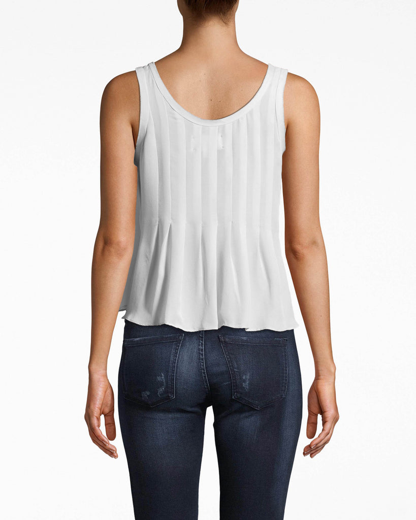 BC10306 - Skylar Solid Silk with Picot Tank - tops - shirts - THIS FLOWY TANK IS CRAFTED FROM SOLID SILK AND HAS A SCOOP NECKLINE. THIS EASY TOP PAIRS WITH EVERYTHING IN YOUR CLOSET ALREADY. Add 1 line break STYLIST TIP: WEAR WITH HIGH WAISTED JEANS AND YOUR FAVORITE FLAT SHOES. Alternate View