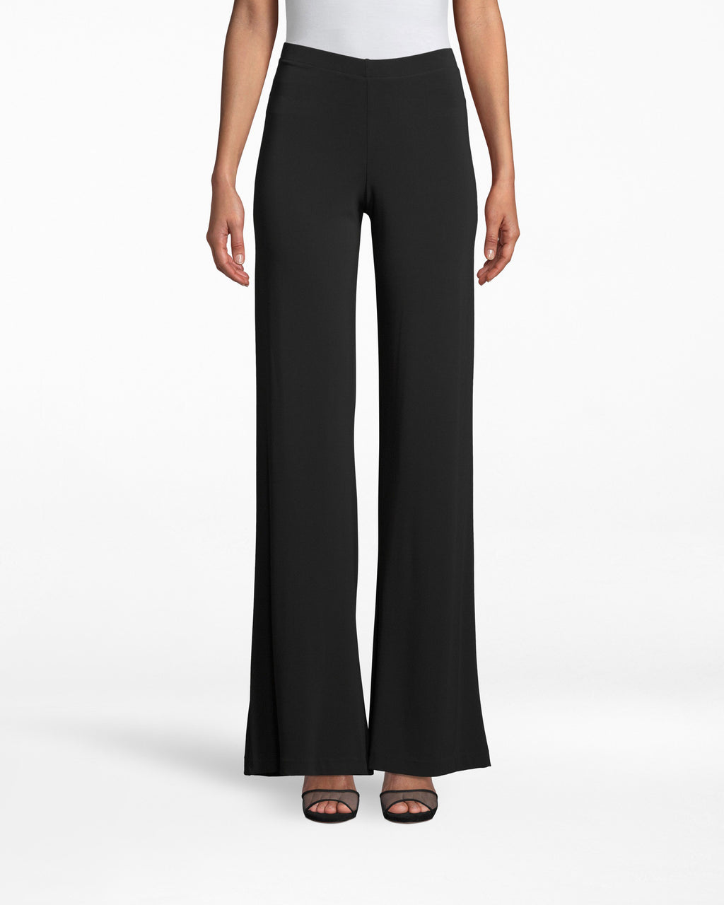 BD10093 - STRETCHY MATTE JERSEY EMMA PANT - bottoms - pants - SKYHIGH. THAT�S HOW YOUR LEGS WILL LOOK IN THESE SLIMMING PANTS. WIDELEGS WITH A FLOORLENGTH HEMLINE CREATE THE PERFECT SILHOUETTE.