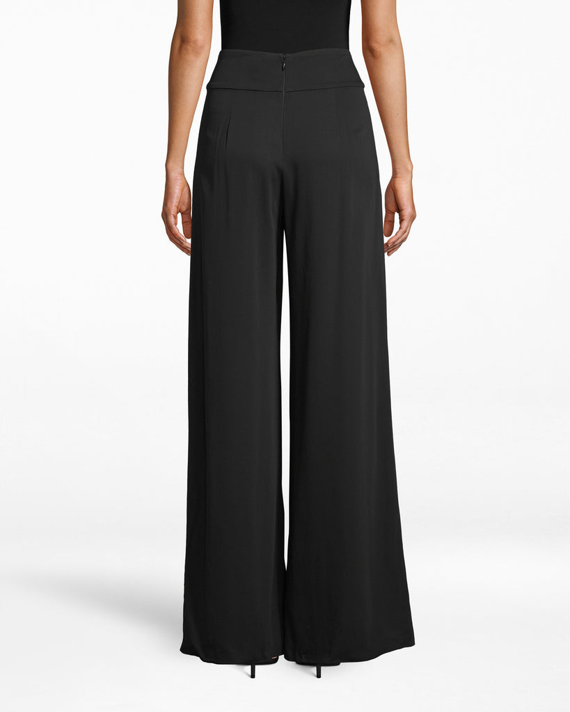 "BH10065 - NEW STRETCH CREPE ""SKYSCRAPER"" PLEAT PANTS - bottoms - pants - Like a skyscraper. Take these lengthening pants to the office and after-party - they feature minimal pleating and hit below the ankle. Alternate View"
