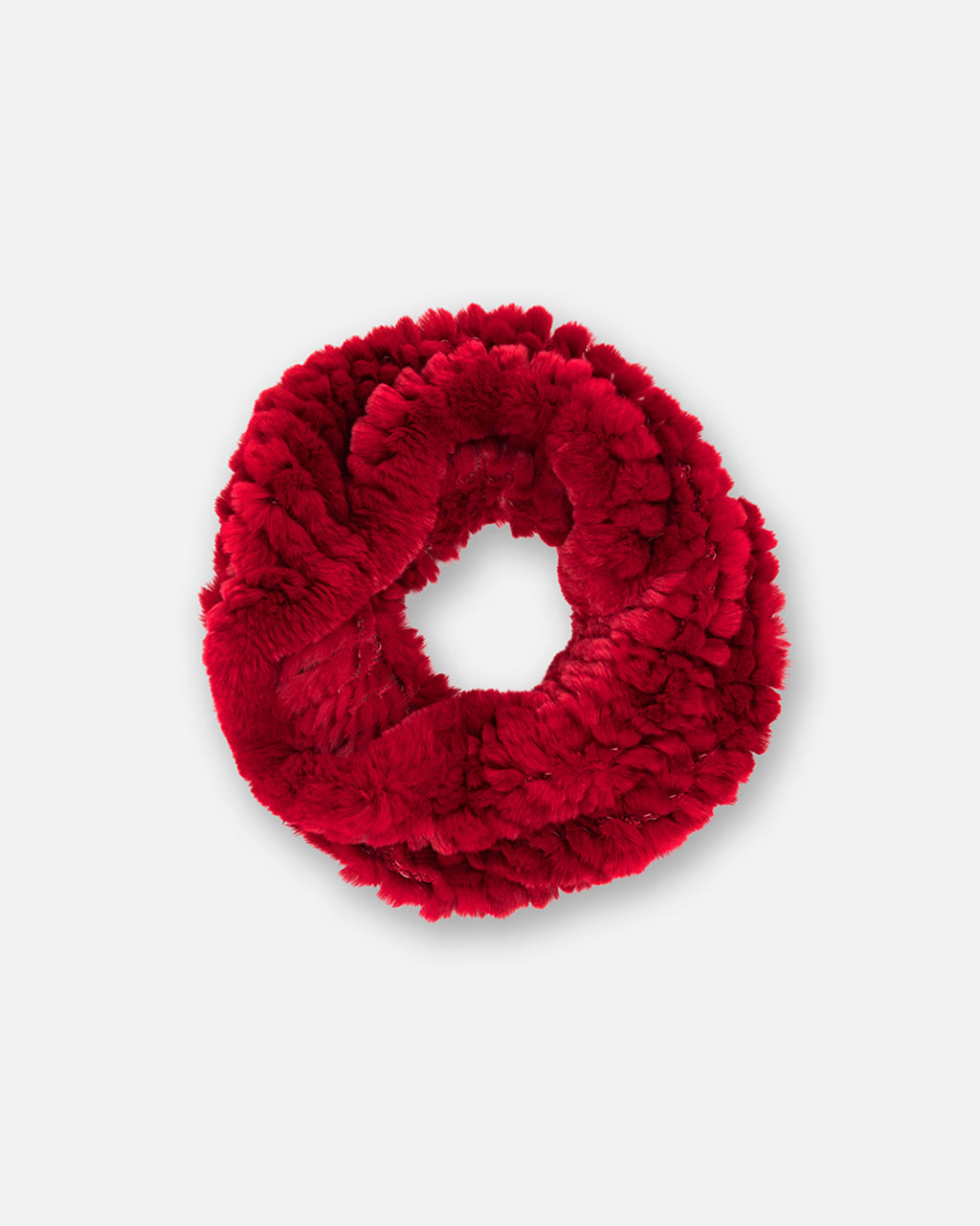 BH10157 - KNIT BUNNY INFINITY SCARF - accessories - ties - In a luxuriously soft fur, this scarf makes for the perfect addition to any fall wardrobe.